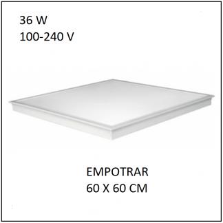 Panel LED 60x60 36W Empotrar plafon