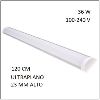 PANEL LED SOBREPONER FLAT 36W 120CM LUZ BLANCA 100-240V