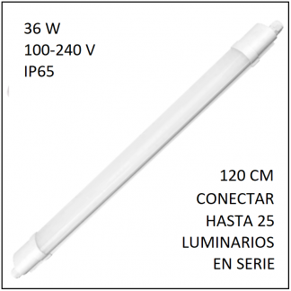 PANEL LED SATURN 36W DE SOBREPONER O SUSPENDER IP65 120CM LUZ BLANCA