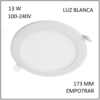 Downligth Empotrar 13 W Blanca