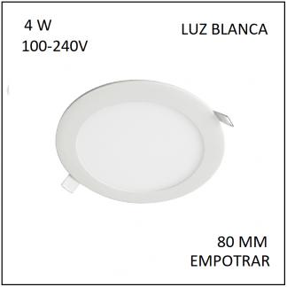 Downligth Empotrar 4 W Blanca