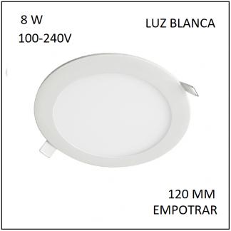Downligth Empotrar 8 W Blanca