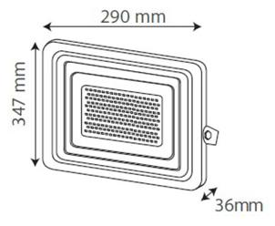 Medidas Reflector 100W Gris