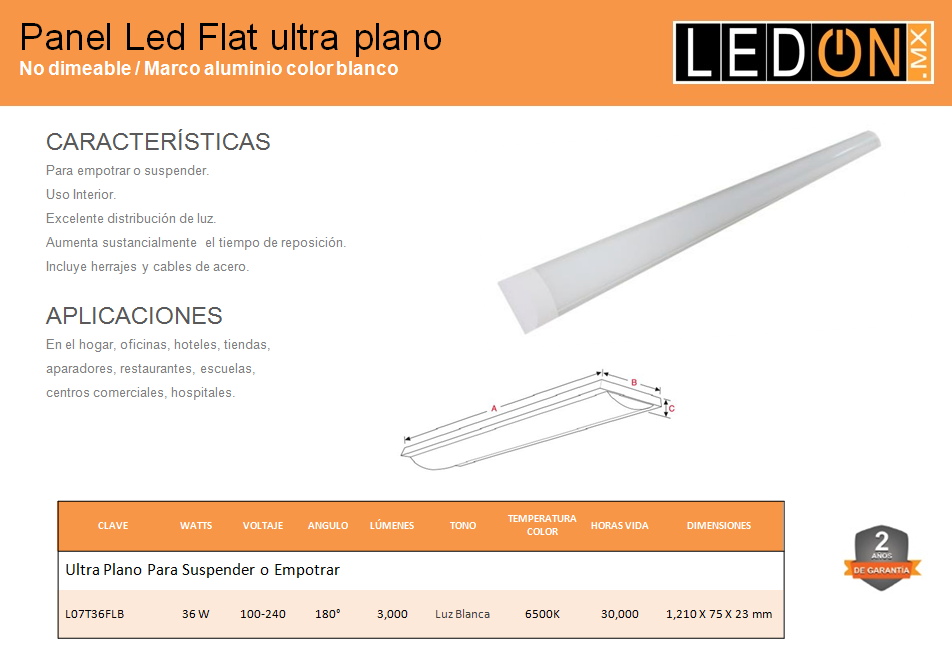 Panel LED Flat Ultraplano