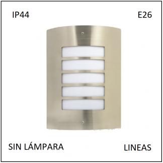 Luminario Pared IP64 Pantalla Lineas