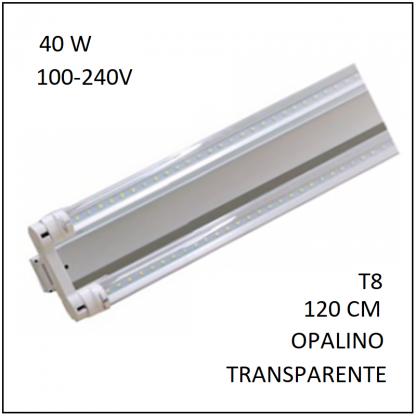 Canaleta con 2 Tubos LED 40 W