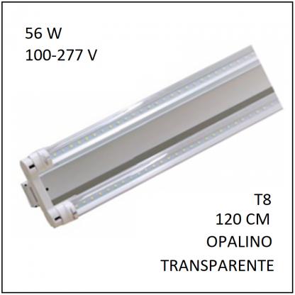 Canaleta con 2 Tubos LED 56 W