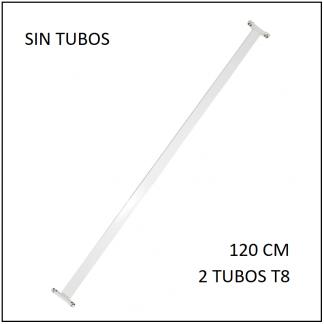 Canaleta para 2 tubos T8 120 cm