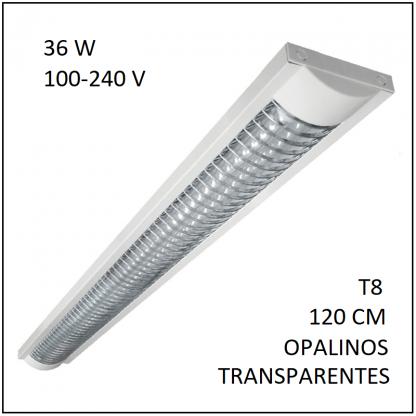 Luminario LED Grid 36w con 2 Tubos T8