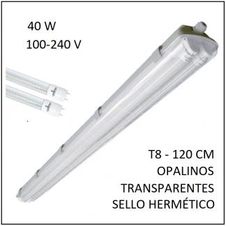 Gabinete IP65 40W con sello hermético para dos tubos T8