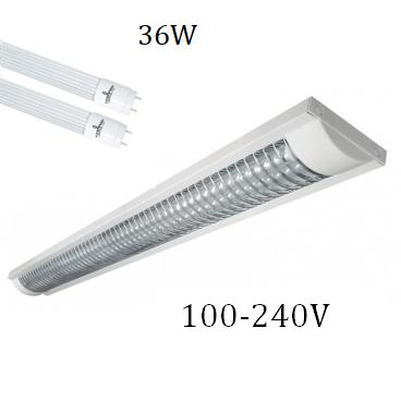 Lámpara Gabinete 36W con 2 Tubos Led Opalinos 100-240V