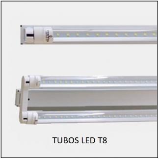CANALETA CON TUBO LED T8