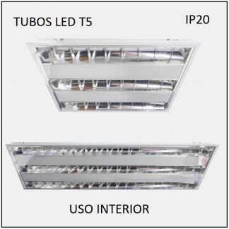 LUMINARIOS LED CON TUBOS T5