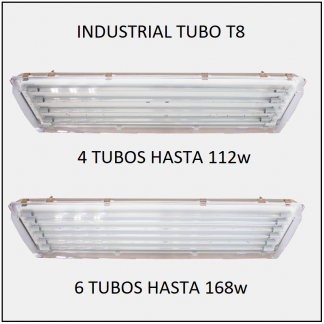 GABINETES INDUSTRIALES IP67 TUBOS LED T8 SELLO HERMÉTICO